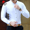 2016 White Shirts Mens Chemise Luxe Camisa Clanca Hombre Men Clothing Prom Wedding Dress Shirts Social Business Office Shirt 5XL