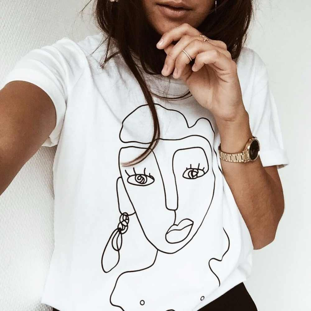 스트리트 스타일 재미 있은 인쇄 된 t 셔츠 여성 탑 캐주얼 여름 t-셔츠 여성 tshirt 화이트 티 셔츠 femme camiseta feminina