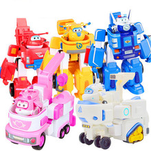 HOT 17*11cm Super Wings toys Airplane ABS Action Figures Super Wing Transformation Robot Jet Animation for birthday gifts