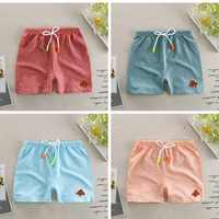 Baby shorts bamboo cotton pure color boy shorts summer new children's pants boys and girls beach pants
