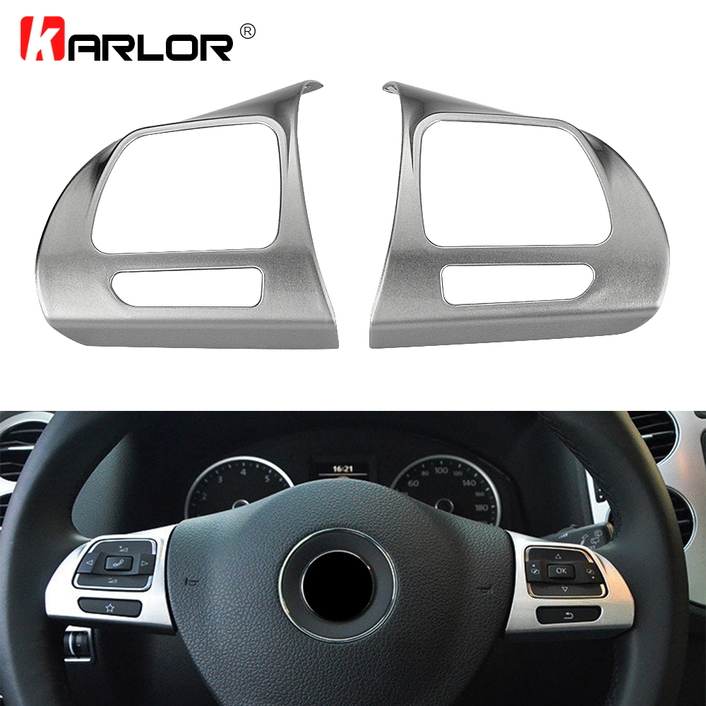 Car Steering Wheel Sticker ABS Chrome For Volkswagen VW GOLF 6 Cros Golf Sagitar Jetta MK6 Lavida Tiguan Touran PASSAT B6 B7L CC автомобильный dvd плеер wincen android 4 1 dvd vw golf 5 6 passat jetta tiguan touran skoda octavia seat altea