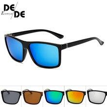 Fashion POLARIZED Square Style Driving Sunglasses Men Color Mirror New Brand Design Sun Glasses