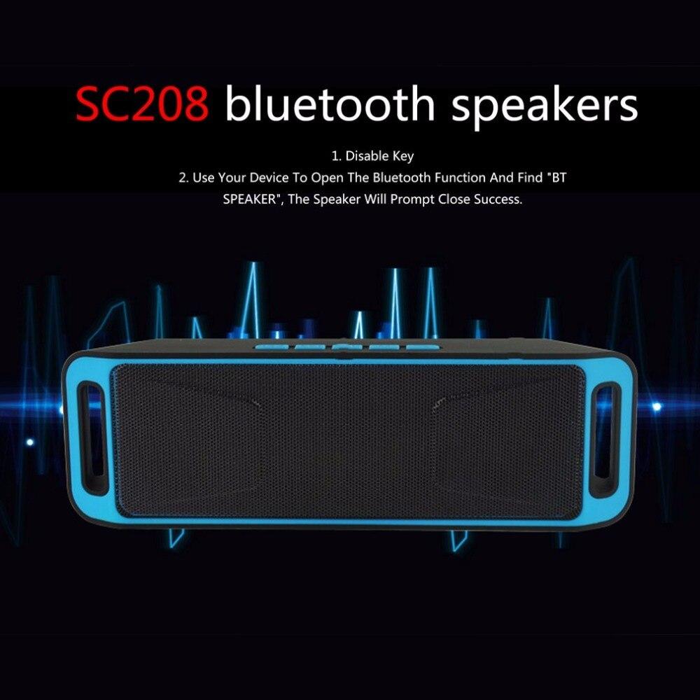 Портативный Беспроводной Bluetooth Динамик стерео сабвуфер USB Колонки TF FM Радио Встроенный Микрофон Звук Changer