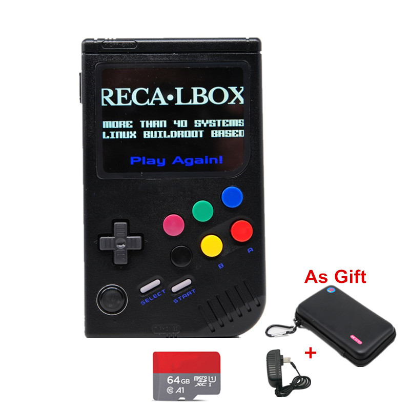 New 2.0 Retro LCL Pi Raspberry Pi For Game Boy Handheld Game Console Video Game Porta til Classic Game Player Raspberry Pi 3B/A+
