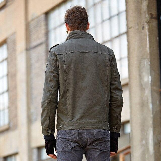 NEW 2019 Mens Green Khaki 3 Colors Military Jacket Winter Cargo Plus size M-XXXL 5XL 6XL Casual man Jackets Army clothes brand 3