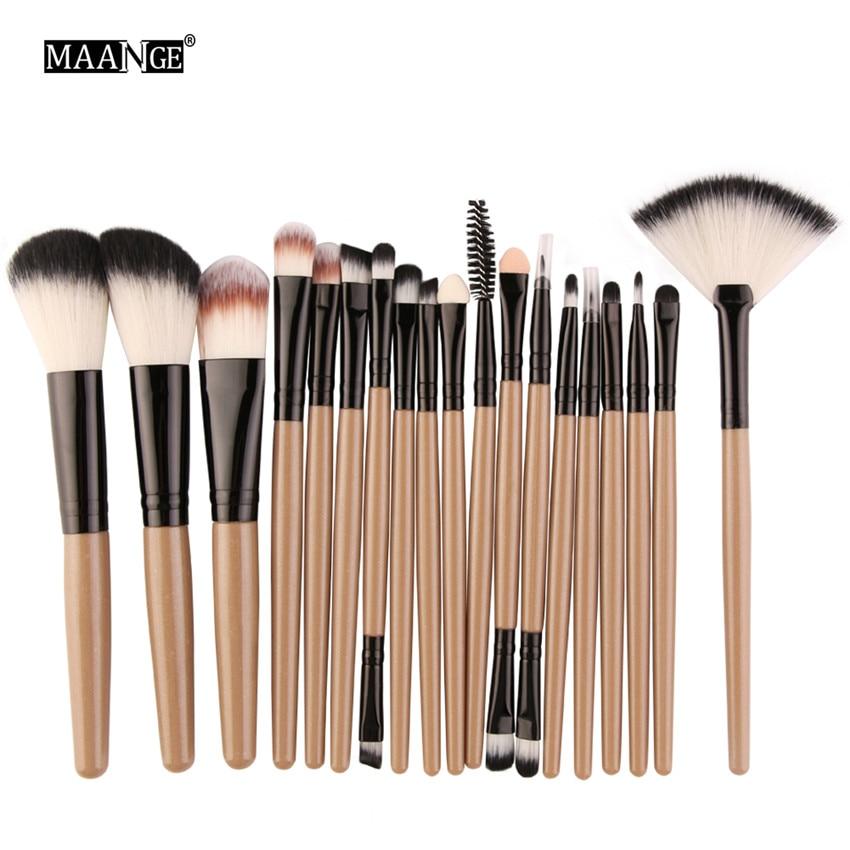 18Pcs/lot Brand Brushes Makeup Brush Set maquiagem Cosmetics Power Foundation Blush Eye Shadow Blending Fan Make Up Kits Beauty 4