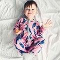 Новый 2017 милый ребенок детский комбинезон комбинезон попугай птица одежда для новорожденных 0-24 м детская одежда, новорожденный ребенок одежда