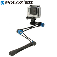 PULUZ Sports Camera Accessories Extreme Motion Camera Folding Magic Selfie Stick Free Folding For Gopro Xiaomi
