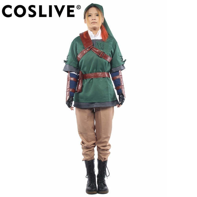 d2bcd3962 Coslive The Legend of Zelda Dress Link Costume Outfit COSplay Full Suit  Uniform Game Pops Replica