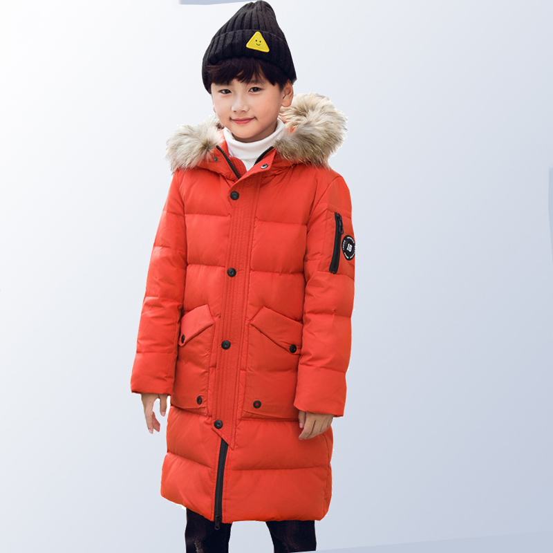 Children Winter Coat Down Jackets Teenage Girls Clothing 2018 Kids Fur Collar Warm Thick Hood Long Down Parka 8 10 12 14 16 Year winter jackets for men fashion plus size black down coat new arrival thick warm bodycon long sleeve stand collar parka hot sale