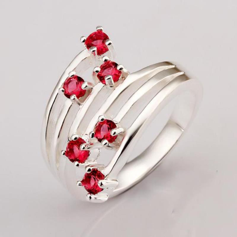 PINKSEE Luxury Silver Color Multilayer Cross Knuckle Joint Ring Women Ladies Crystal Finger Rings Jewelry Gifts Accessories