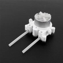 6 В DC DIY насос перистальтический дозатор для аквариума Лаборатория аналитического воды не дешевые Вид