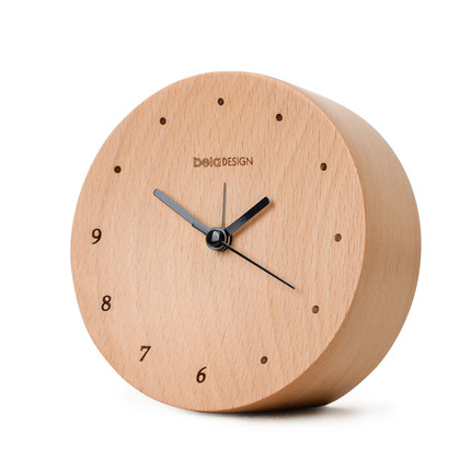 Creative wood alarm clock mute wooden bedside clocks student fashion small clock