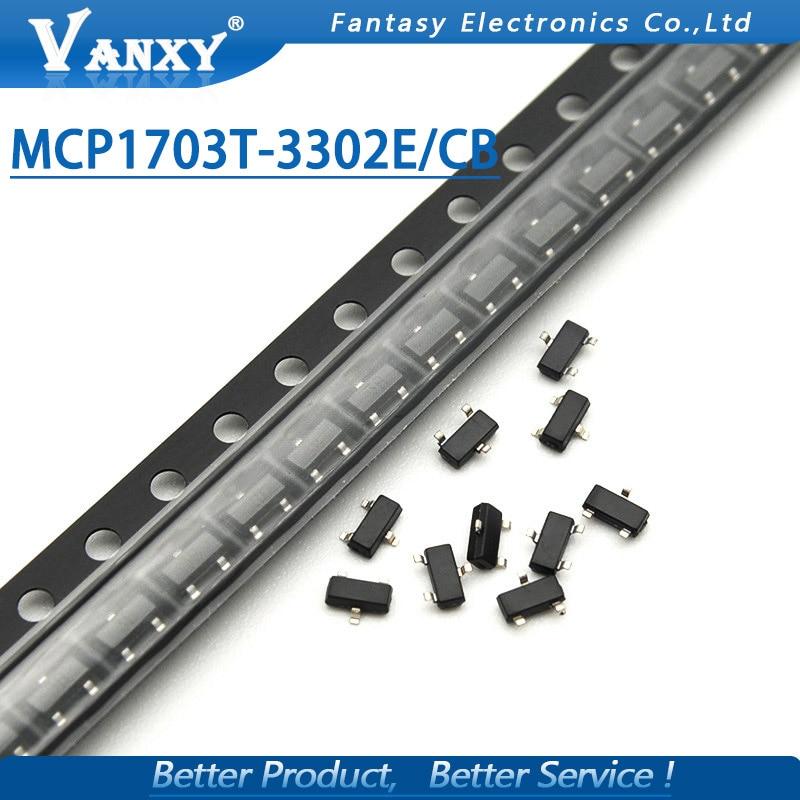 10 adet MCP1703T-3302E/CB SOT-23 MCP1703 3.3 v SOT23 MCP1703T yeni orijinal10 adet MCP1703T-3302E/CB SOT-23 MCP1703 3.3 v SOT23 MCP1703T yeni orijinal