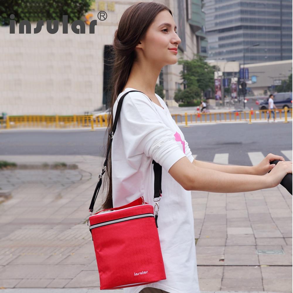Insular Baby Nursing Bottle Bag Temperature Stroller Bag Water Milk Warmer Baby Feeding Bottle Tote Bag For Travel Stroller
