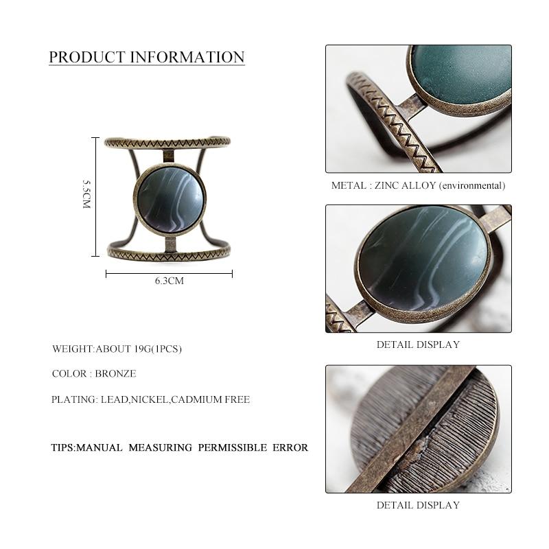 Vintage Boho Εθνική προσομοιωμένη μεγάλη - Κοσμήματα μόδας - Φωτογραφία 3
