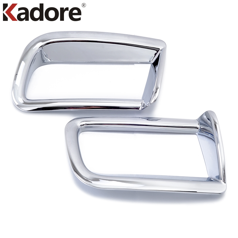 For Toyota Prado FJ150 FJ 150 2010 2011 2012 ABS Chrome Exterior Rear Fog Light Cover Trims Car Accessories Styling Sticker