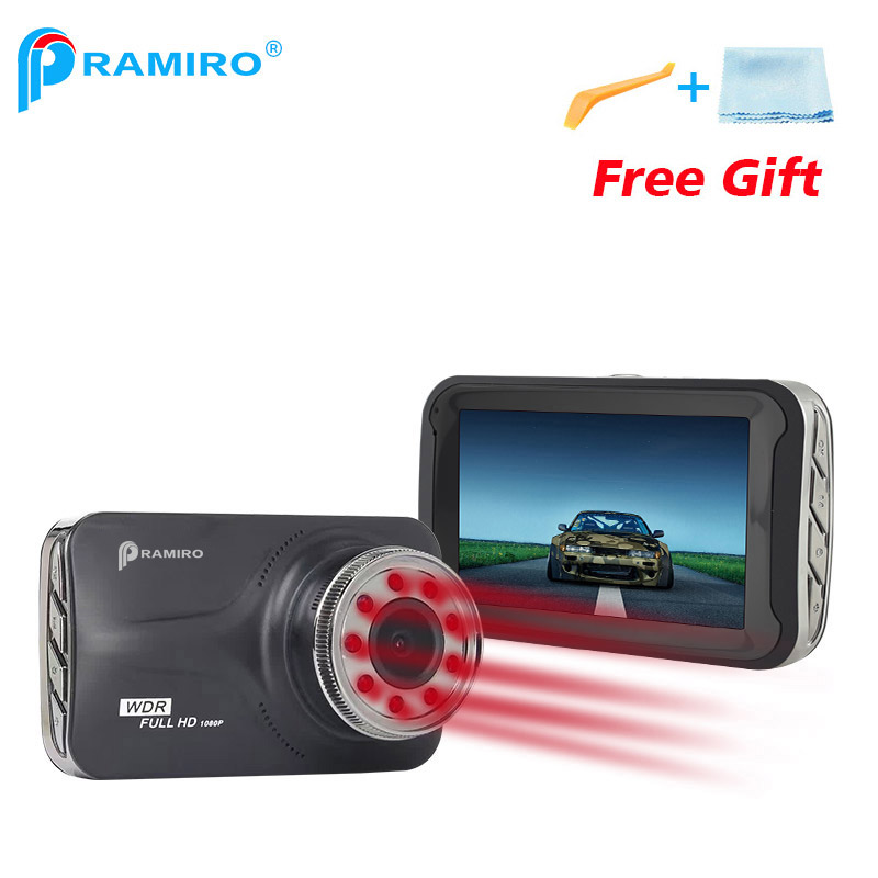 3-дюймовый 9 шт ИК свет ночного видения автомобиля DVR НОВАТЭК NTK96223 с FHD 1080p тире-камеры G-сенсор 170 градусов T639 PRAMIRO автомобиль DVR рекордер