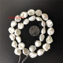 a1b3bceea5c2 Venta al por mayor DIY de agua dulce genuina Natural blanco biwa renacer  keshi perla collar de perlas de 10-13 MM 15 pulgadas