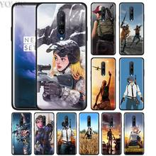 Playerunknown's Battlegrounds PUBG Phone Case for Oneplus 7 7Pro 6 6T Oneplus 7 Pro 6T Black Silicone Soft Case Cover