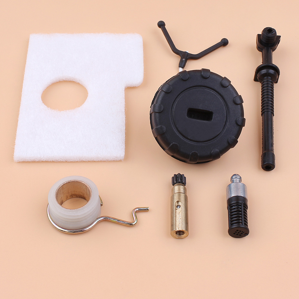 Oil Pump Worm Gear Hose Air Filter Cleaner Kit For Stihl 017 018 MS170 MS180 Gas Chainsaw Parts 11236403200, 11236403201