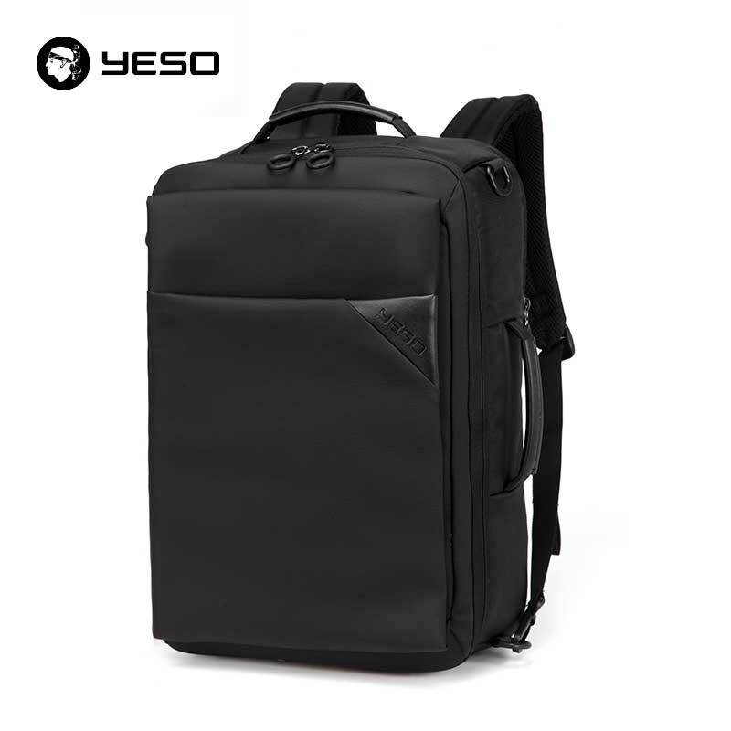 YESO Black Laptop Backpack Men 2018 Waterproof Oxford Women's Backpacks Multifunction Large Capacity 15.6inch Computer Backpacks