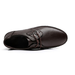 Image 3 - Mens Fashion cow Leather Shoes Working Shoes Lace Up Business Casual Genuine Leather Shoes Flats Male sneaker Zapatos De Hombre