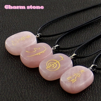 2018 Hot Venda de Energia pedras de cura reiki símbolos amuletos e talismãs jóias cristais naturais gargantilha colares pingentes