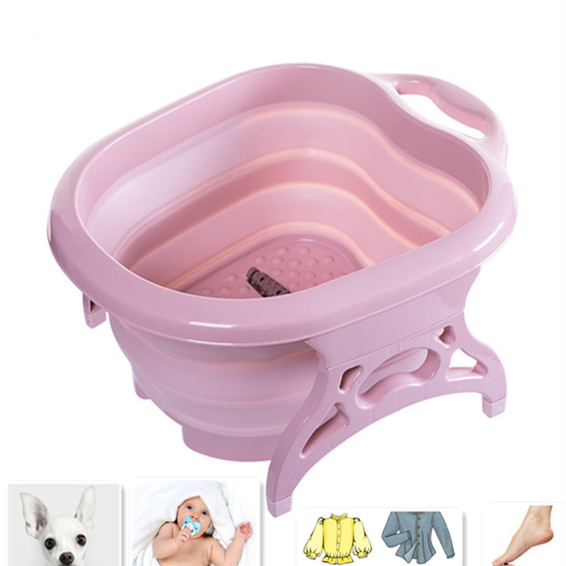 new born fold bath 3 in 1 Shower Portable Silicone Pet small cloths box Bath Accessories Baby Folding Cat Dog Bath Tubs
