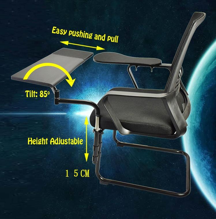 Multifonctionnel arc chaise de serrage tablette Support de pc clavier tapis de souris Support + chaise bras de serrage XL taille tapis de souris/tapis - 5