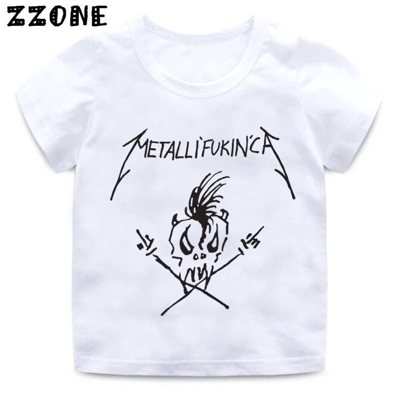 99f09282aabc3d Jongens & Meisjes Print Heavy Metal Rock Metallica T shirt Enfant Fashion  Zomer t shirt Kinderen Casual Kleding, HKP330 in Jongens & Meisjes Print  Heavy ...