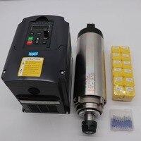 80mm 2.2KW refrigerado por aire del motor del husillo ER20 24000 rpm 2.2KW inversor de frecuencia 12 piezas ER20 collet grabado bits|Rotor de herramienta mecánica| |  -