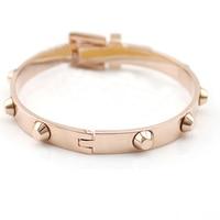 Top Quality 316L Titanium Steel Carter Belt Bracelet Charm Rose Gold Cuff Belt Bangles Size For