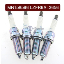 4PCS/Lot MN158596 LZFR6AI-3656 Car Laser Iridium Spark Plug for Mitsubishi Eclipse Galant OutLander LZFR6AI 3656