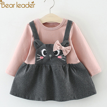 Bear Leader 2019 Hot Sale Baby Bow Cat Face Princess Dress C