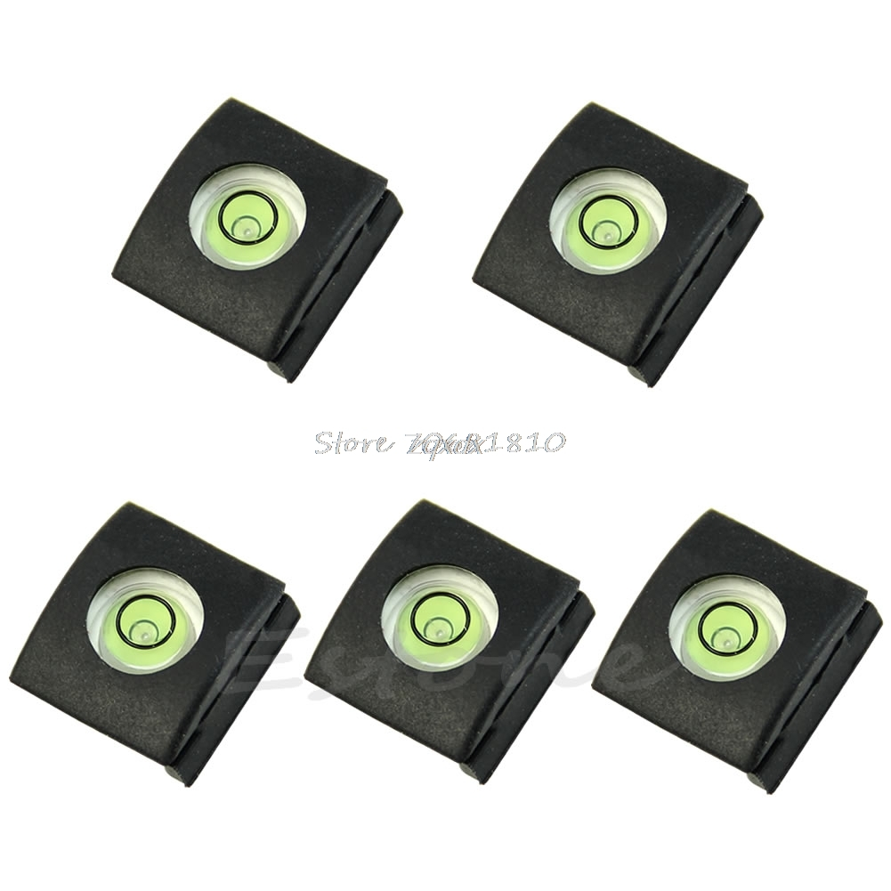 SIV 5Pcs Flash Hot Shoe Cover Cap Bubble Spirit Level For Nikon Canon Olympus Camera Z09 Drop ship