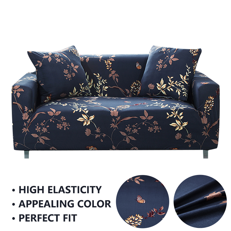 Elastic Corner Sofa Cover Couch Covers SpaElastic ndex Cover For L Shape Sofa Tight Wrap Washable Leaf Flower Furniture Covers in Sofa Cover from Home Garden
