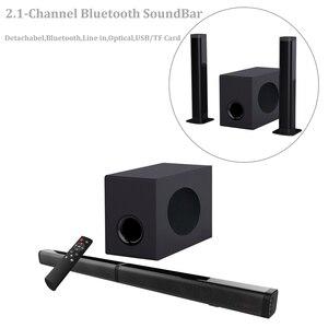 Image 2 - Sounderlink 2,1 CH Bluetooth TV soundbar mit subwoofer optische USB TF vitual 3D surround sound home theater system