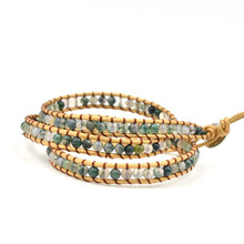 Bohemia Style Multilayer Hand-woven Bracelet Lapis Lazuli Wrap Natural Stone For Women Accessories Wholesale