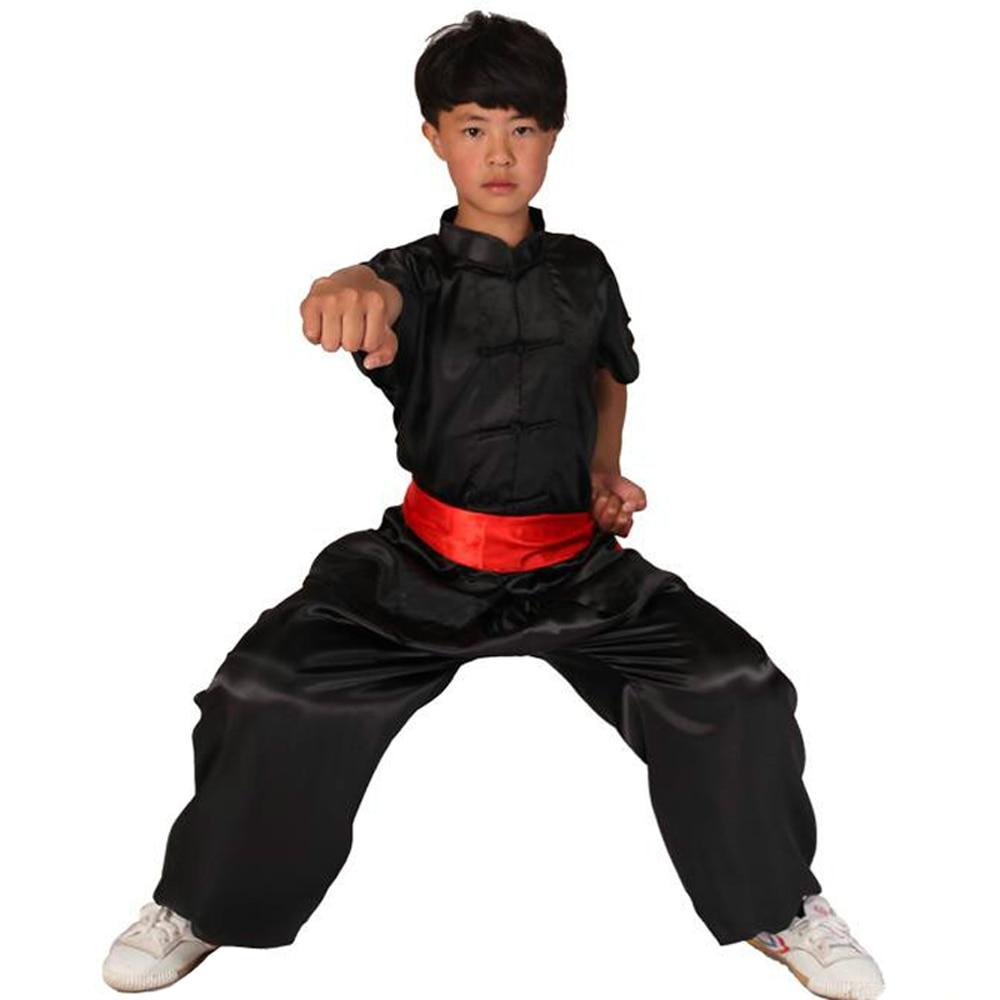 Kids' Unisex South Korea Rayon Kung Fu Suit Uniforms Short Sleeve Martial Art Tai Chi Clothing Morning Exercise Suits