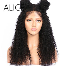 ALIICE Pre Plucked Full Lace  Human Hair Wigs With Baby Hair 10-24 Inch Remy Hair Brazilian Kinky Curly Wigs For Black Women