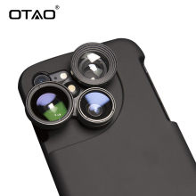 OTAO 4 in 1 Mobile Phone Lensese Cases Full Coverage For iPhone X 8 7