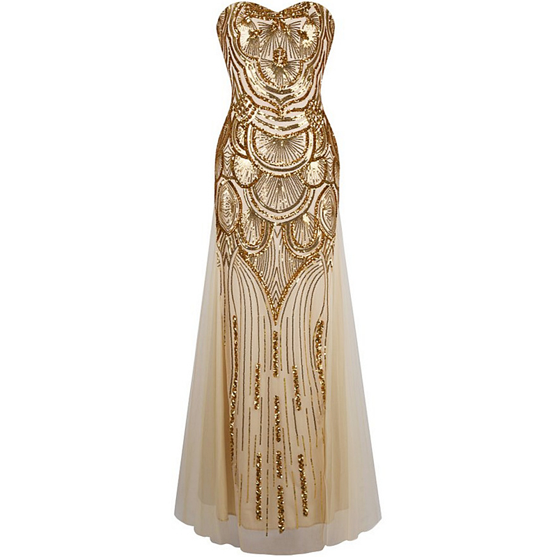 Buy Cheap 2017 Sexy Women Free Shipping Vintage 1920s Gastby Sequin Art V-Neck Embellished Fringed Flapper Dress With Colorful Beads X0014