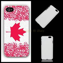 For Apple iPhone 4 4s 5 5s 5c 6 6s plus Funny flag of Canada Art Design hard plastic mobile phone bag case cover