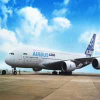 Airbus Plane on the Ground Blue Sky Children Photography Backdrops Stage Background Photo Studio Props Baby 150cm*200cm