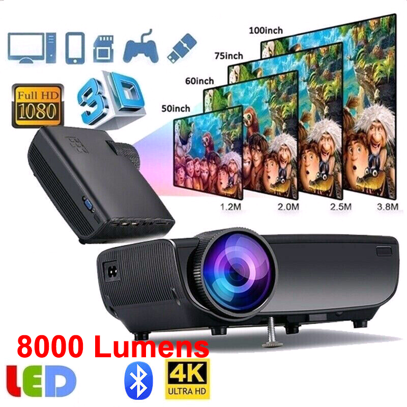 1080P HD projecteur de téléphone Portable Home cinéma 3D 4K 45W projecteur LED Home cinéma Wifi écran projecteur Portable Projection