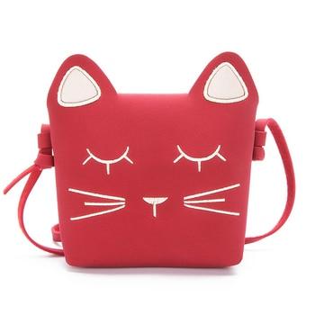 Fashion Children Princess Small Cute Cate Messenger Bag Girl Animal Pattern Mini PU Women Shoulder Bags Cute Cat Baby Bag LZ