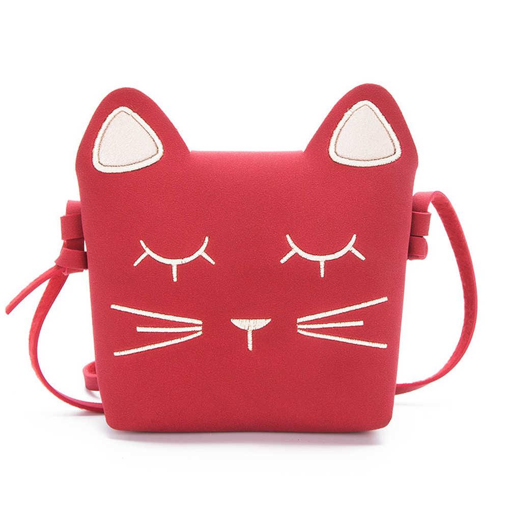 Fashion Children Princess Small Cute Cate Messenger Bag Girl Animal Pattern  Mini PU Women Shoulder Bags
