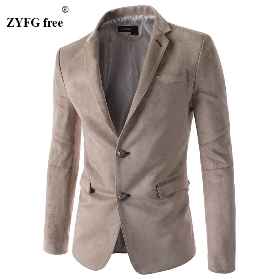 2017 New Style Men 39 S Single Breasted Suede Suits Personality Popular Leisure Suits Urban