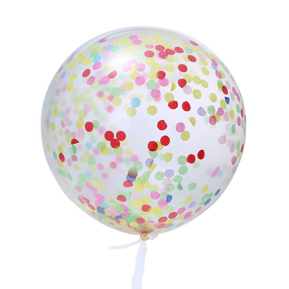 36 inch Confetti Balloons for Wedding Party Decorations 2pcs festival, party decoration, birthday, wedding decoration and so on.